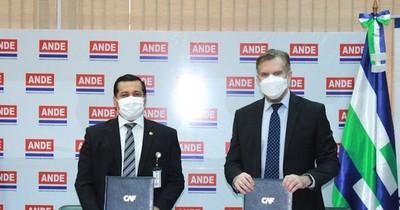 La Nación / Ande y CAF firman convenio