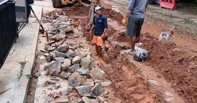 La Nación / Avanzan los trabajos en barrio Mburicaó