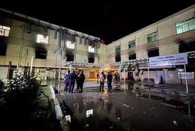 Al menos 82 personas mueren en incendio en hospital de Irak