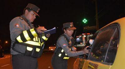 Caminera demoró a 278 conductores por manejar en estado etílico