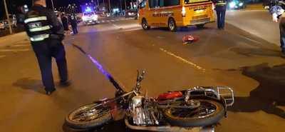 VIOLENTO ACCIDENTE DEJA MOTOCICLISTAS LESIONADOS
