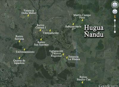 Reportan quema de retiro de una estancia en Hugua Ñandu