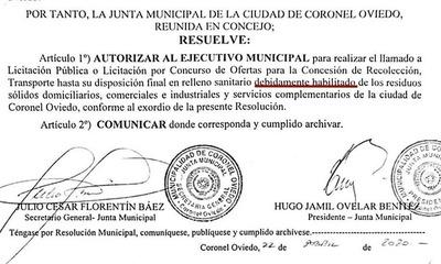 Vertedero colapsado pone en jaque a la ciudad de Coronel Oviedo