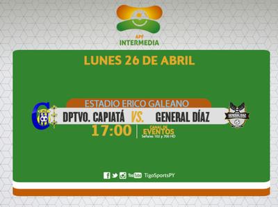 Deportivo Capiatá y General Díaz buscan salir del fondo