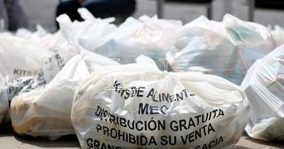 La Nación / Hoy y durante la semana se prevé la entrega de kits alimentarios en escuelas de Asunción