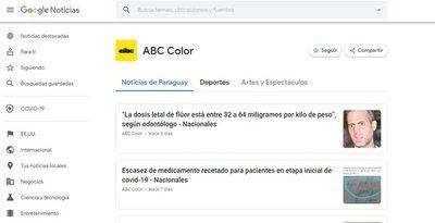 ¿Sabías que ABC Color está en Google News?