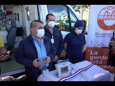 MUNICIPIO ENTREGA RESPIRADOR AL HOSPITAL PEDIÁTRICO DE ENCARNACIÓN