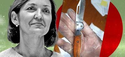 Envían carta amenazante con una navaja ensangrentada a ministra española