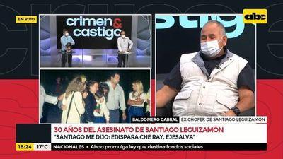 Ex chofer de Santiago Leguizamón recuerda aquel día hace 30 años