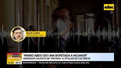 """Blas Llano dice que Nicanor Duarte es un """"payaso"""""""
