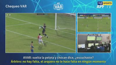 Las revisiones del VAR en el empate entre Luqueño y River Plate