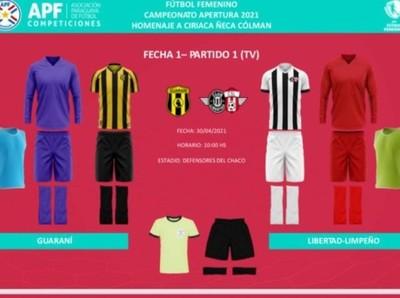 Los colores de la primera fecha del Fútbol Femenino