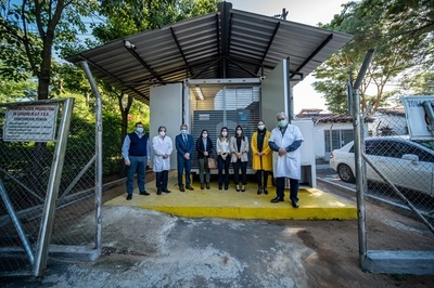 Cervepar donó un nuevo compresor de aire para la planta de oxígeno del Ineram