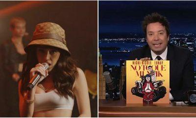 Cantante argentina Nicki Nicole hace historia en el programa de Jimmy Fallon
