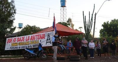 La Nación / Vecinos de Minga Guazú se plantan ante la eventual activación de una antena
