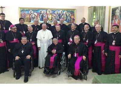 Papa Francisco envía bendición apostólica a obispos del Paraguay
