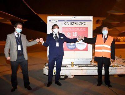 Conmebol recibió las 50.000 dosis de Sinovac