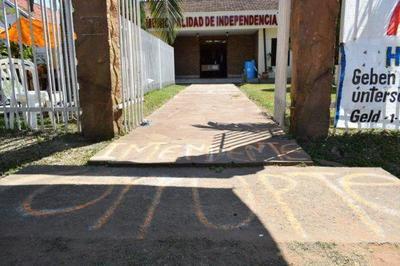 Ningún funcionario acudió a trabajar hoy a la Municipalidad de Independencia, Guairá