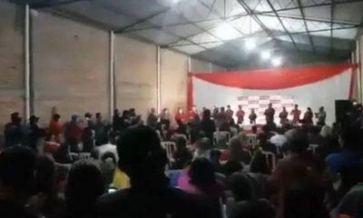 Fiscal investiga el mitin político de colorados en Alberdi