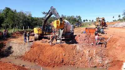 Avanza construcción de seis puentes de hormigón que beneficiarán a 3.000 pobladores de Canindeyú