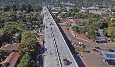 Corredor Vial Botánico: inician colocación de hormigonado del último vano del viaducto de 1.340 metros de largo