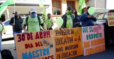 La Nación / Docentes de la OTEP-SN piden aprobación de la ley de emergencia educativa