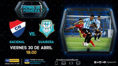 Previa del partido Nacional vs. Guaireña FC
