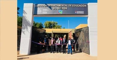 Inauguraron obras de refacción en la Dirección Dptal. de Educación de Boquerón