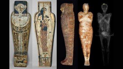 Hallan el primer caso de una momia egipcia de una embarazada