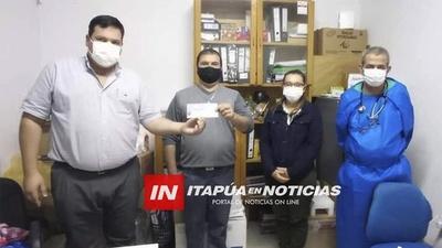 NUEVO APORTE DE GS. 65 MILLONES PARA EL HOSPITAL DE FRAM.