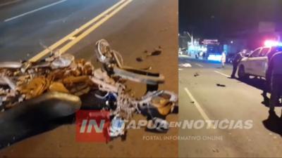 ACCIDENTE CON DERIVACIÓN FATAL SOBRE LA RUTA 1 EN PLENO CENTRO DE CNEL. BOGADO