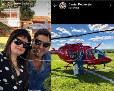 Dalia López reaparece en fotos de festejo y con su helicóptero