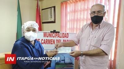 TRANSFERENCIA DE GS. 24.000.000 DESDE LA MUNICIPALIDAD DE CARMEN AL CENTRO DE SALUD.