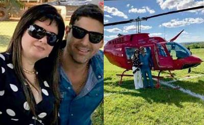 La prófuga Dalia López reaparece en festejo con su helicóptero