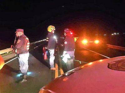Trágica noche de viernes en Itapúa, con tres fallecidos en accidentes de tránsito