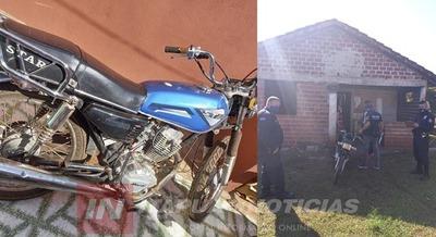 RECUPERAN PARTES DE UNA MOTOCICLETA HURTADA EN ALLANAMIENTO.