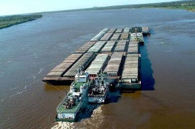 Bajo nivel del río pone en riesgo competitividad de granos paraguayos