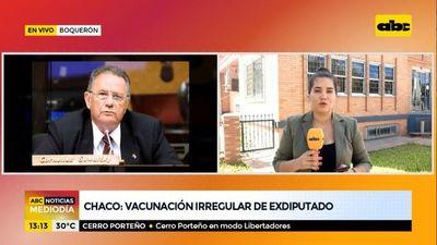 Chaco: vacunación irregular de un exdiputado