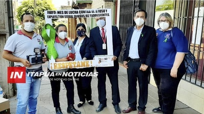 INICIAN CAMPAÑA DEL LAZO VERDE CONTRA EL ABUSO SEXUAL DE NIÑOS Y ADOLESCENTES.