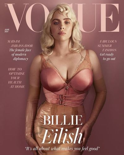 Billie Eilish en una histórica portada para la British Vogue
