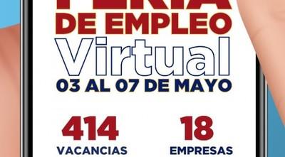 Feria virtual de empleo ofrece más de 400 puestos laborales por semana del trabajador