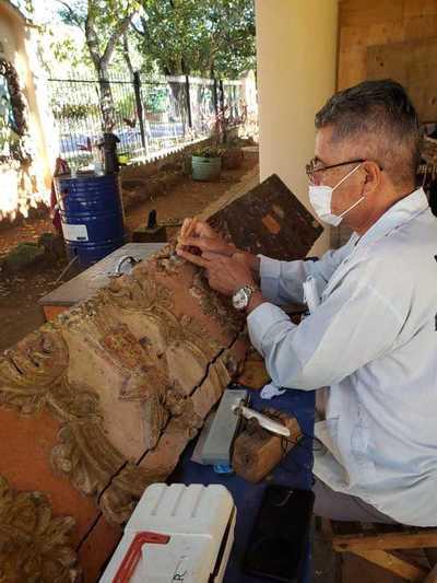 Continúa restauración de la Iglesia San Lorenzo Mártir de Altos