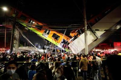 México: Unas 23 personas fallecidas y 70 heridos tras colapso de paso elevado