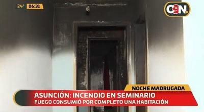 Incendio consume una habitación en seminario