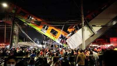 Momento exacto en que se derrumbó un tramo del Metro de la Ciudad de México