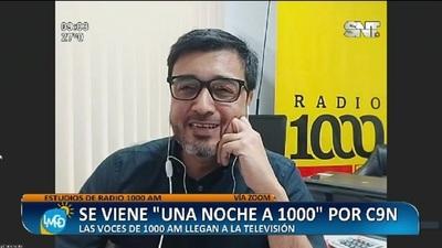 """Todos los miércoles """"Una noche a 1000"""" desde las 22hs por C9N"""