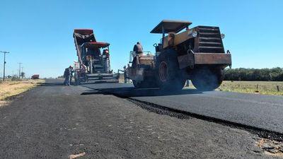 Avanza obra de asfaltado en Ayolas