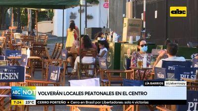 Asunción seguirá con su plan de calles peatonales