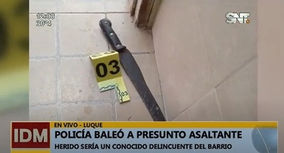 Policía balea a hombre que intentó ingresar a su casa