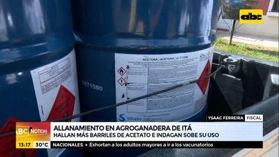 Allanan agroganadera en Itá y hallan barriles de acetato